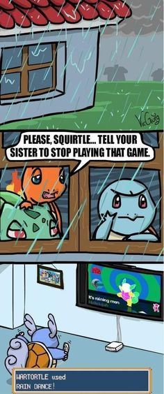 water pokemon and dancing games