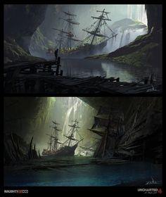 ArtStation - Uncharted 4 - Pirate Cave Reveal , Eytan Zana