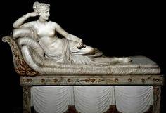 Venere vincitrice, Antonio Canova, '800 (1805-1808, Arte Neoclassica), Marmo bianco di Carrara scolpito a tutto tondo, conservato nel Museo Borghese di Roma (stessa collocazione originaria dell'opera)