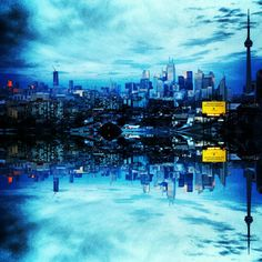 Toronto Skyline Mirror Image Fine Art by BeCoPhotography on Etsy