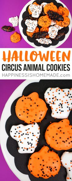 "Halloween ""Circus Animal"" Cookies"