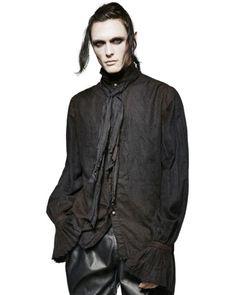 48b8dabc Punk Rave Mens Steampunk Poet Shirt Top Black Gothic VTG Victorian Scarf  Tie   Casual Shirts & Tops   Shirts & Tops