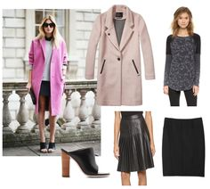 Get the look: Coat: Maison Scotch, Sweatshirt: Free People, Pleated Skirt: Rebecca Taylor, Black Skirt: Rebecca Taylor, Shoes: Tibi