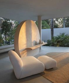 Outdoor Chairs, Outdoor Furniture, Outdoor Decor, Interior Architecture, Interior Design, Environment Design, Side Chairs, Egg Chair, Mid Century