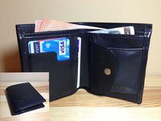 Leather wallet for man. High quality  http://www.sashe.sk/StefanKrajcovic/detail/panska-kozena-penazenka-cierna