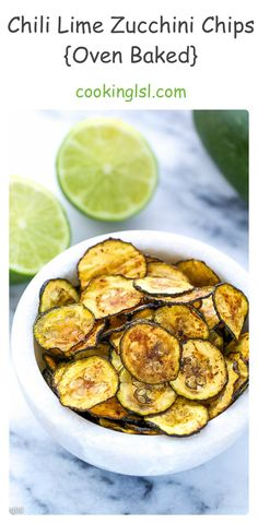 Chili Lime Zucchini Chips Recipe {Oven Baked} - Cooking LSL