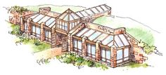 production green house near Calgary, Canada in collaboration w/ Madeen Interior Design - passive solar house ; eco home