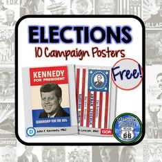 Elections Campaign Posters {10 Posters}I love election season and election history!  This product contains 10 election campaign posters total.  Five Democratic and five Republican campaign posters are included.  Use the posters for an analysis activity of your own or for display in your room.