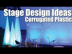 Church Stage Design Ideas : Corrugated Plastic :: Christmas Trees - YouTube
