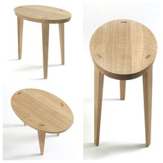 Riva 1920, made in Italy., in solid wood: Tao Ovale side table, project by C. R. & S. Riva.