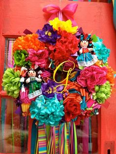 fiesta wreaths | Custom Monogram Fiesta Wreath by Bonnieharmsdesigns on Etsy, $198.00