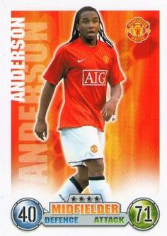 2007-08 Topps Premier League Match Attax #184 Anderson Front