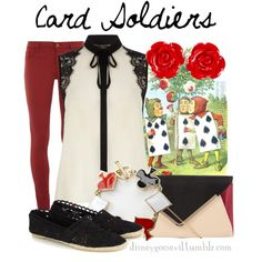 """Card Soldiers"" by disney-villains on Polyvore"