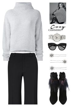 """""""Cozy Chic"""" by rasa-j ❤ liked on Polyvore featuring Roland Mouret, Le Kasha, Chloe + Isabel, Le Specs, MICHAEL Michael Kors, womensFashion, falloutfit and cozychic"""