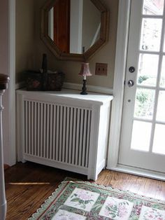 Radiator Cover, need something like this for the hall.