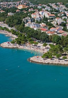 Crikvenica, Croatia. THIS IS WHERE OUR CONDO IS LOCATED AND WHERE MY 4TH COUSIN LIVES - my ONLY relative in Croatia Dubrovnik Croatia, Croatia Travel, Thousand Islands, Places In Europe, Summer Dream, Montenegro, Homeland, Old Photos, The Good Place