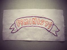 Feminist punk patch handstitched by BostonRadicals on Etsy