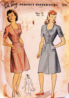 Vintage 1944 DuBarry Misses' Dress Pattern par NostalgiaVintage2, $13,50