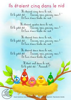 Paroles_Ils étaient cinq dans le lit French Teaching Resources, Teaching French, French Poems, French Nursery, French Classroom, French Immersion, French Language Learning, French Lessons, Educational Activities
