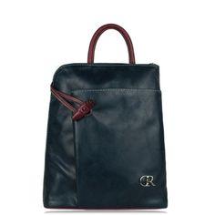 """Kožený ruksak Miriam \""""Tmavomodrý-bordový\"""""""