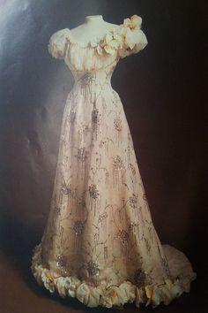 1890s, evening dress