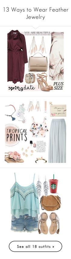 """""""13 Ways to Wear Feather Jewelry"""" by polyvore-editorial ❤ liked on Polyvore featuring featherjewelry, waystowear, KS Selection, Elvi, Paul Andrew, Givenchy, Charlotte Russe, MeditationRings, springdate and Rupert Sanderson"""
