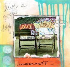 Namaste Peace Love  signed fine art print by lindawoods on Etsy, $20.00