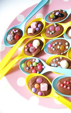 Chocolate Party Spoons!  by silly old suitcase via Flickr.