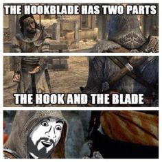 The hook blade has two parts... - #AssassinsCreed Fun