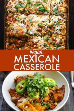 Healthy Recipes : Vegan Mexican Casserole - This recipe is healthy, flavorful, a. - Healthy Recipes : Vegan Mexican Casserole – This recipe is healthy, flavorful, and hearty enough - Vegan Mexican Recipes, Vegan Dinner Recipes, Whole Food Recipes, Vegetarian Recipes, Cooking Recipes, Vegan Eggplant Recipes, Vegan Lasagna Recipe, Mexican Cooking, Tofu Recipes