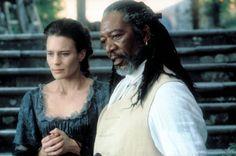 """""""Moll Flanders"""" movie still, 1996.  L to R: Robin Wright, Morgan Freeman."""