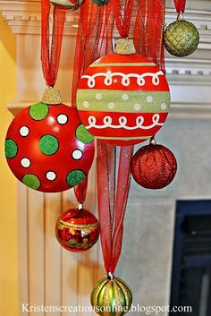 It's that time of the year again! I hope you are all getting in the holiday spirit! I decided to go. Grinch Christmas Decorations, Grinch Christmas Party, Whimsical Christmas, Office Christmas, Christmas Mantels, Christmas Projects, Winter Christmas, Holiday Crafts, Christmas Holidays