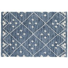 Kota Flat-Weave Rug, Indigo/Silver from One Kings Lane Dash And Albert, Contemporary Rugs, Woven Rug, Kings Lane, Indigo, Hand Weaving, Wool, Weave, Family Room