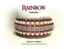 Tutorial Rainbow Bracelet beading pattern von FucsiaStyle auf Etsy