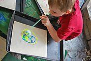 5 Super FUN End of the Year Art Projects | Ping Pong Ball Blow Painting