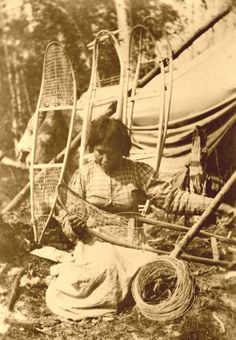 Native American Indian Women | VintageWinter - Antique Native American Indian Snowshoes