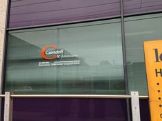 Window graphics applied by Sign A Rama Box Hill for Cairnduff & Associates.