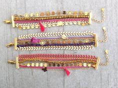 Bracelet manchette ★ collection capsule Noël ★ doré or fin 24 carats