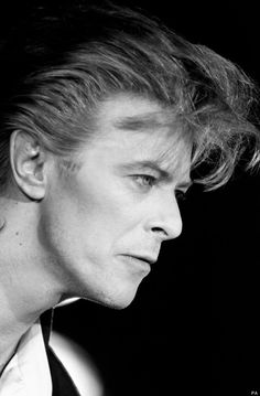 David Bowie leading with his hair 80s