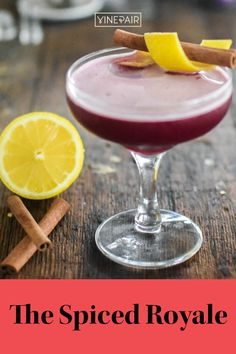 This #Lambrusco cocktail has crisp effervescence from the #bubbly, dry red wine but with warm herbal and #spicy undertones from the #gin and homemade cinnamon syrup. Perfect for any season, but especially great for a #cozy #winter night. Gin Lemon, Fresh Lemon Juice, Cinnamon Syrup, Cinnamon Sticks, Cozy Winter, Winter Night, Wine Cocktails, Cocktail Recipes, Drinks Alcohol