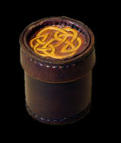 leather dice holder and shaker (medieval nerds!)