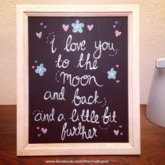 I Love you to the moon Chalkboard