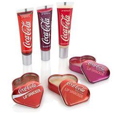 Coca-Cola Flavored Lip Gloss Collection by Cenika Hydrating Lip Balm, Always Coca Cola, Flavored Lip Gloss, Foot Soak, Lip Pencil, Makeup Kit, Pepsi, The Balm, Cosmetics