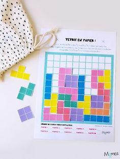 Tetris à imprimer Game Boy, Games For Kids, Diy For Kids, Crafts For Kids, Montessori Math, Diy Games, Tot School, Teaching French, Pattern Blocks