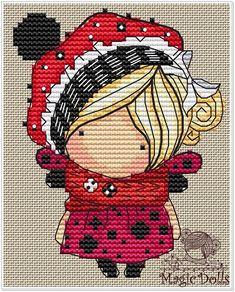 Easy Cross Stitch Patterns, Simple Cross Stitch, Cross Stitch Horse, Witch Series, Stitch Doll, French Knots, Amigurumi Doll, Ribbon Embroidery, Doll Patterns