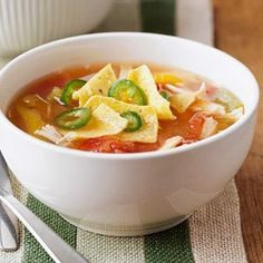 Crockpot Weight Watchers Recipes: WEIGHT WATCHERS 5 Points Plus CHICKEN TORTILLA SOUP