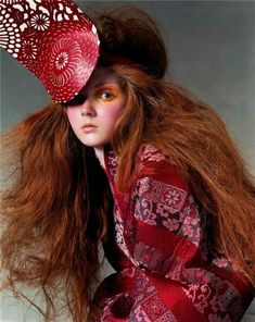 Lily Cole by Steven Meisel - Alexander McQueen, 2003 collection