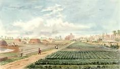 Brickfields in Hackney, by C H Matthews c1830. © London Metropolitan Archives