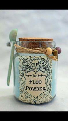 Floo Powder... what a cute way to package homemade bath bombs!