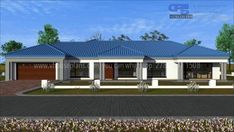 House Layout Plans, Dream House Plans, House Layouts, Modern Bungalow House, Bungalow House Plans, Beautiful House Plans, Beautiful Homes, Architectural Design House Plans, Architecture Design